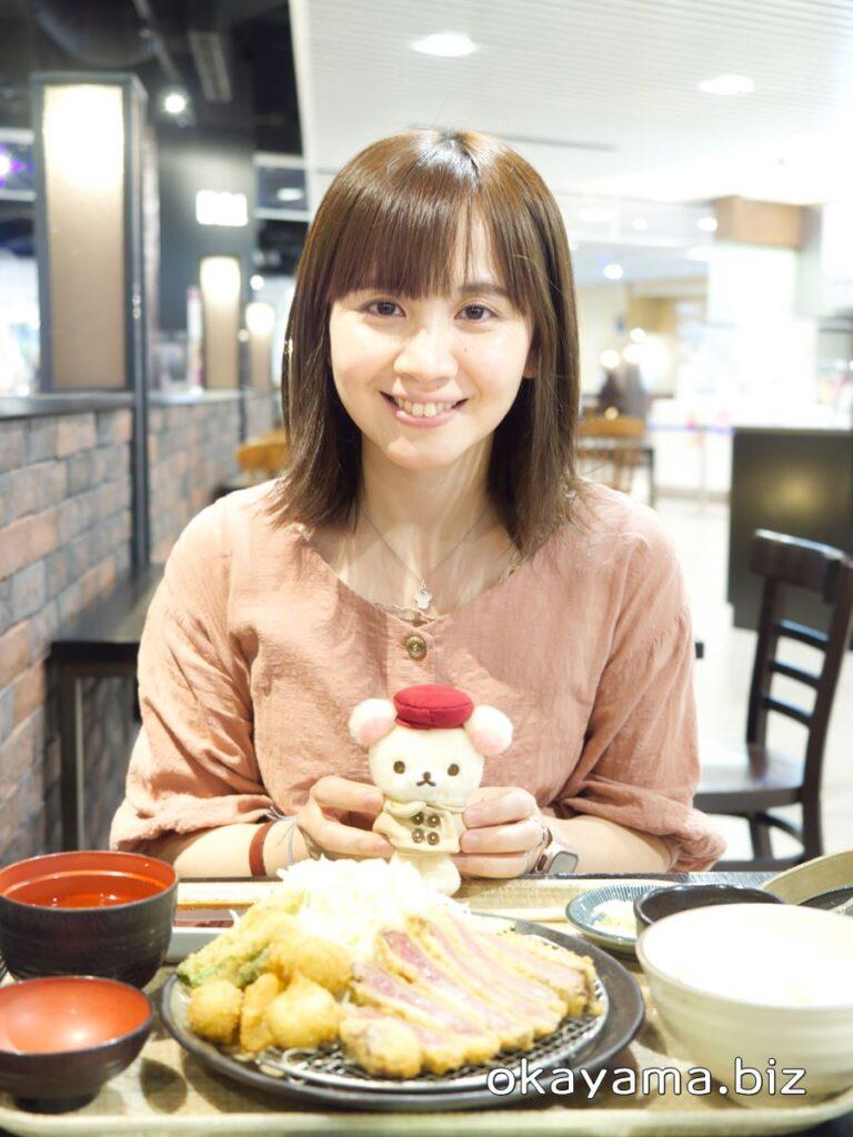 牛かつ上村 イオンモール岡山店 イクリンと牛かつと新じゃが・アスパラかつ定食 okayama.biz