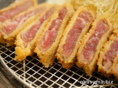 牛かつ上村 イオンモール岡山店 牛ロースかつ定食の肉 okayama.biz