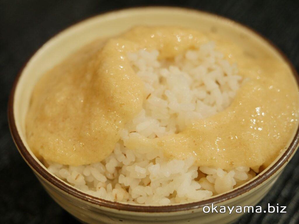 牛かつ上村 イオンモール岡山店 麦とろご飯 okayama.biz