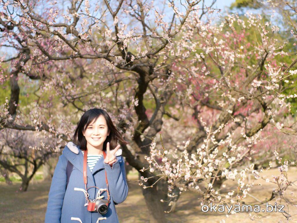 岡山後楽園 梅林 梅の花とイクリン okayama.biz