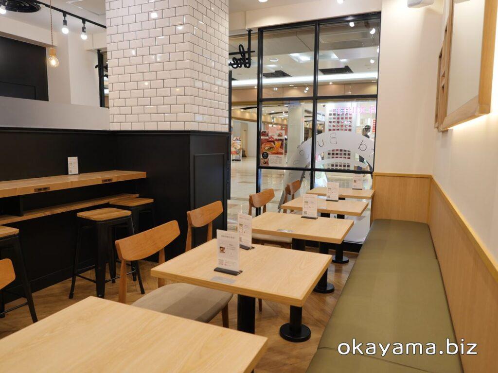 the 3rd Burger(サードバーガー)店内テーブル席 okayama.biz